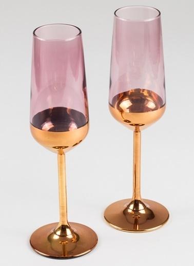 Rakle 195 cc Golden Eye 2'li Şampanya Kadehi Seti Bakır Bakır